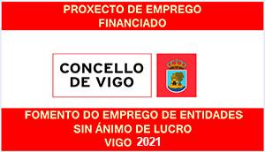 Cartel fomento emprego Concello de Vigo 2021
